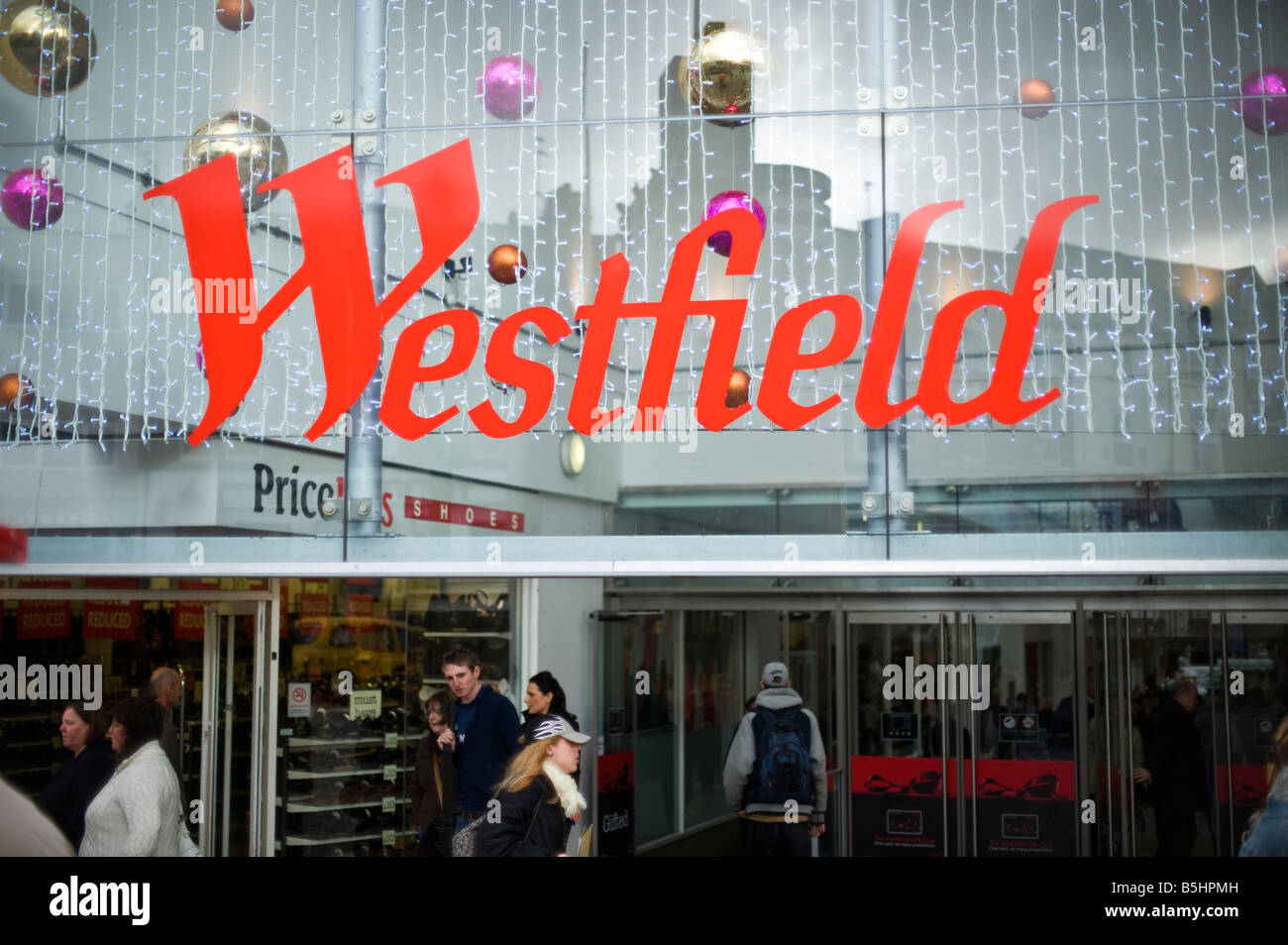 Westfield Shopping Centre FOR EDITORIAL USE Stock Photo