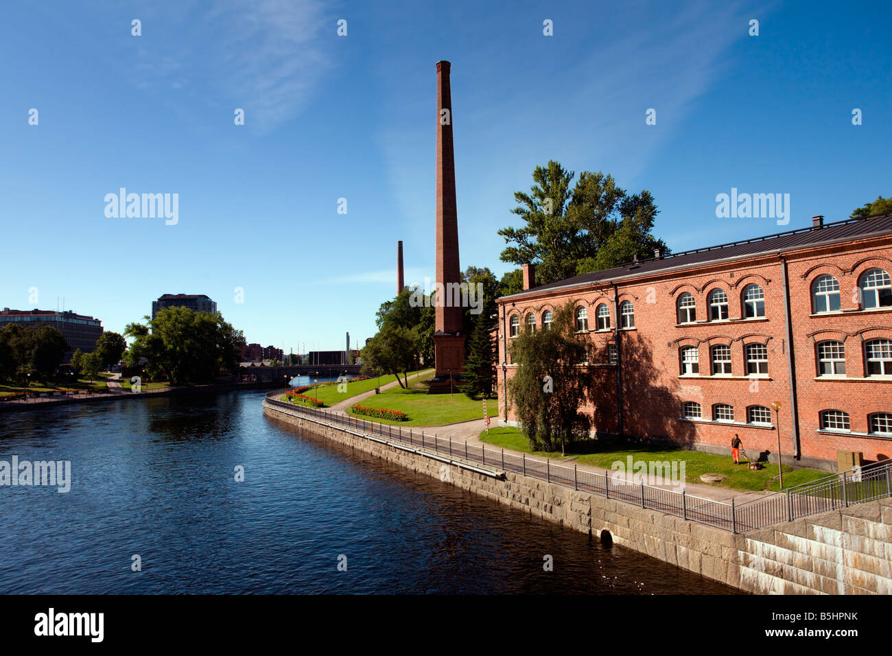 Tampere: Finlayson Factory Old Buildings - Stock Image