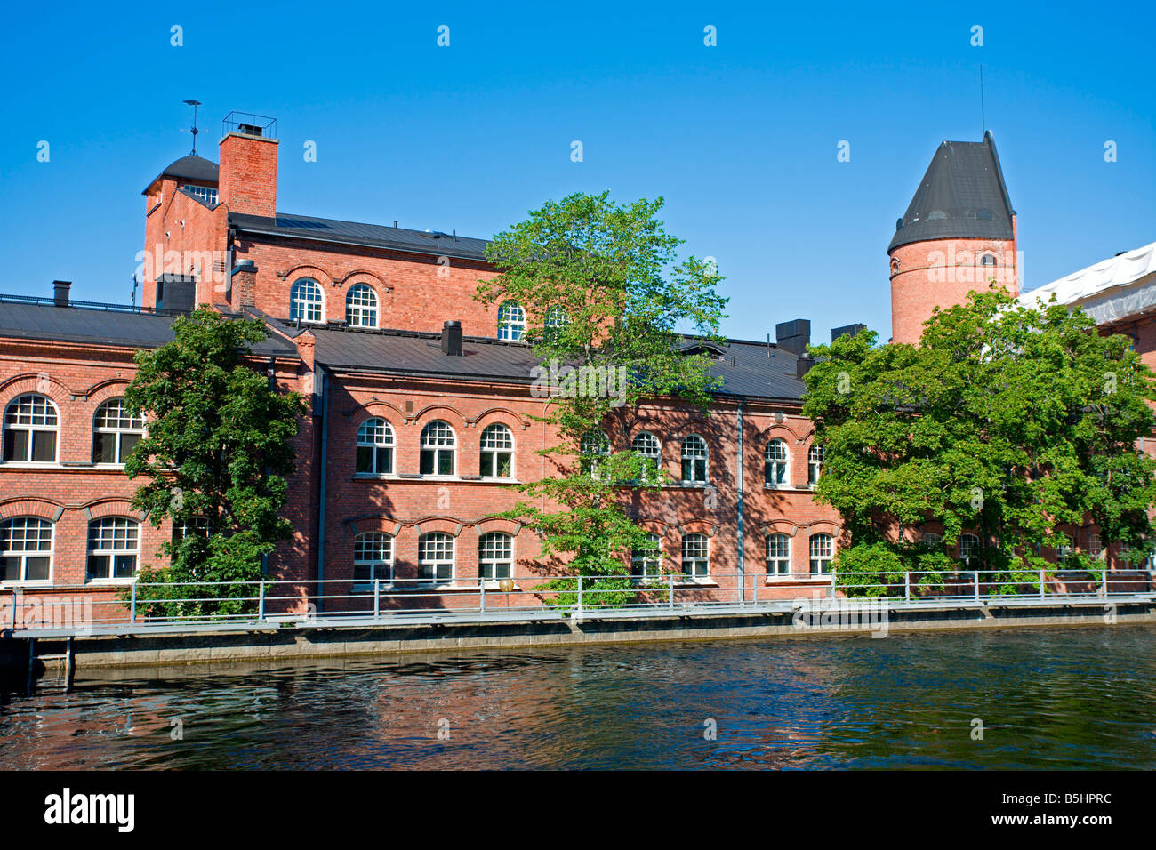 Tampere: Finlayson Factory Old Buildings Stock Photo
