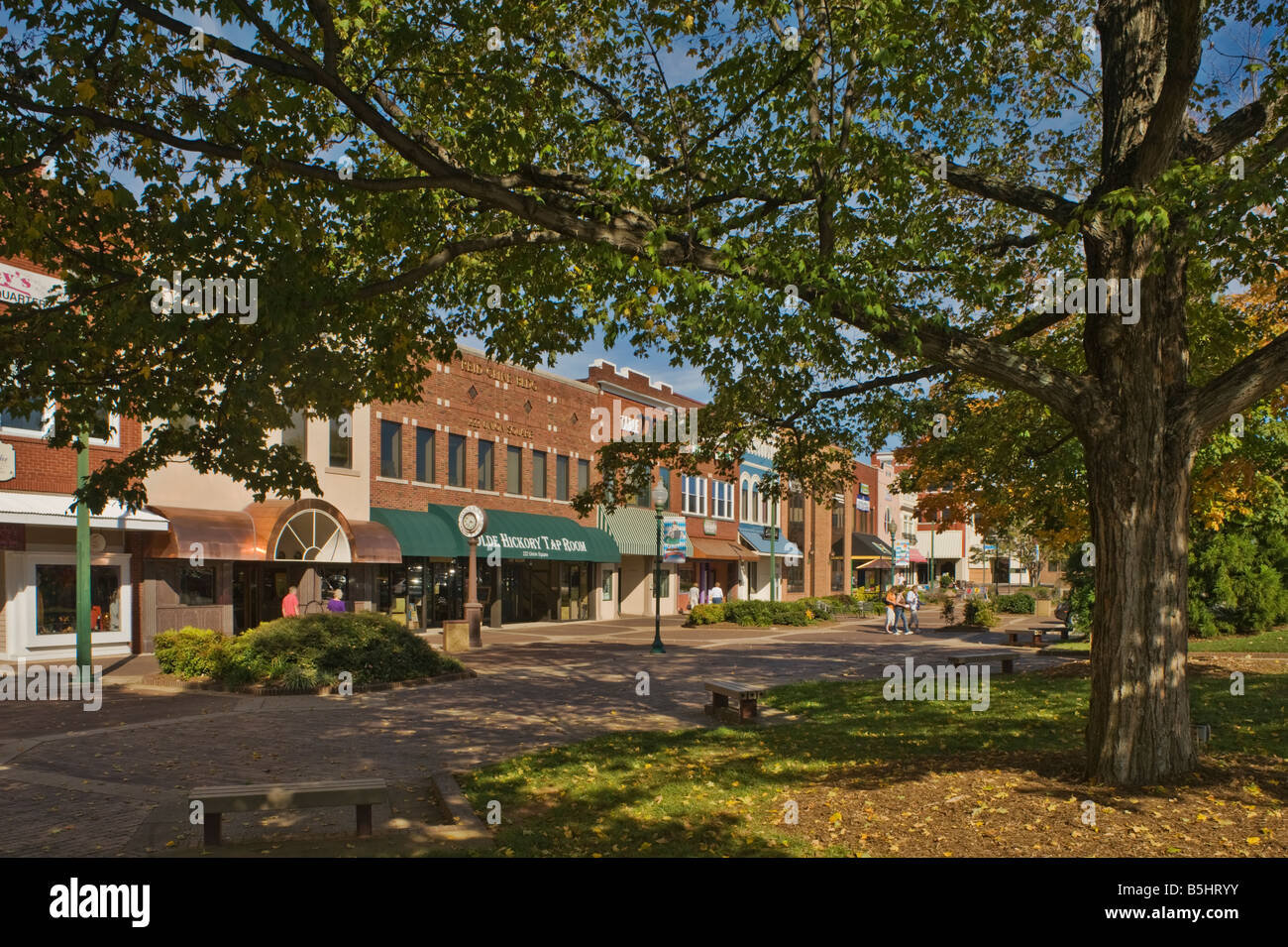 Union Square, Hickory, North Carolina, USA - Stock Image
