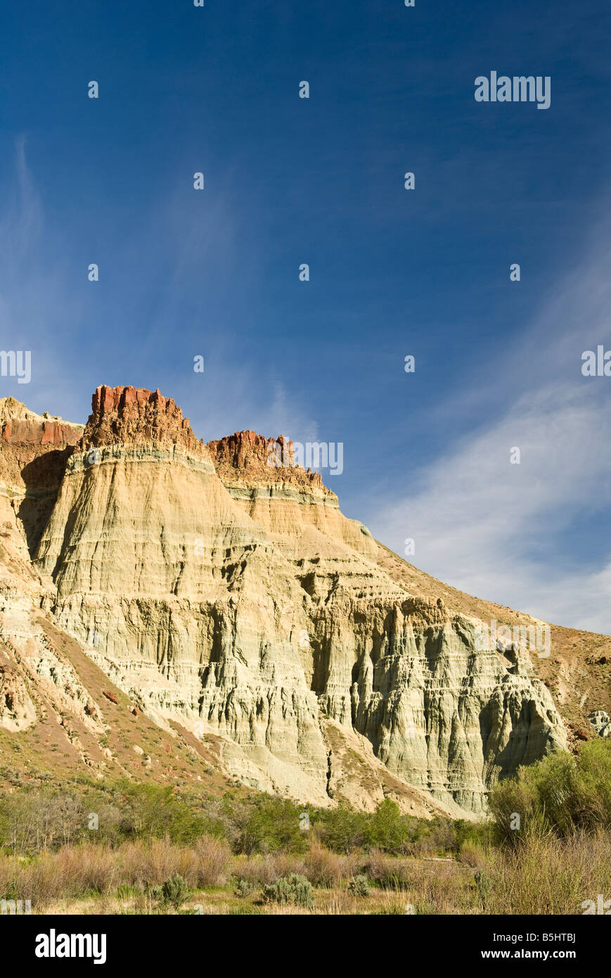 Cathedral Rock John Day Fossil Beds National Monument Oregon - Stock Image