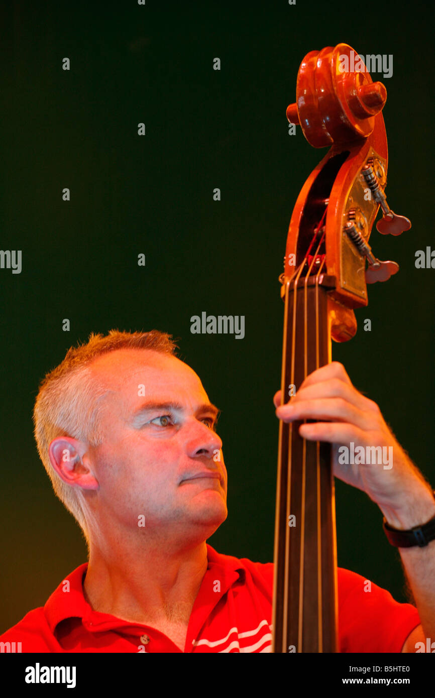 Ali Friend of the band Red Snapper playing at Lewisham Summer Festival. Stock Photo