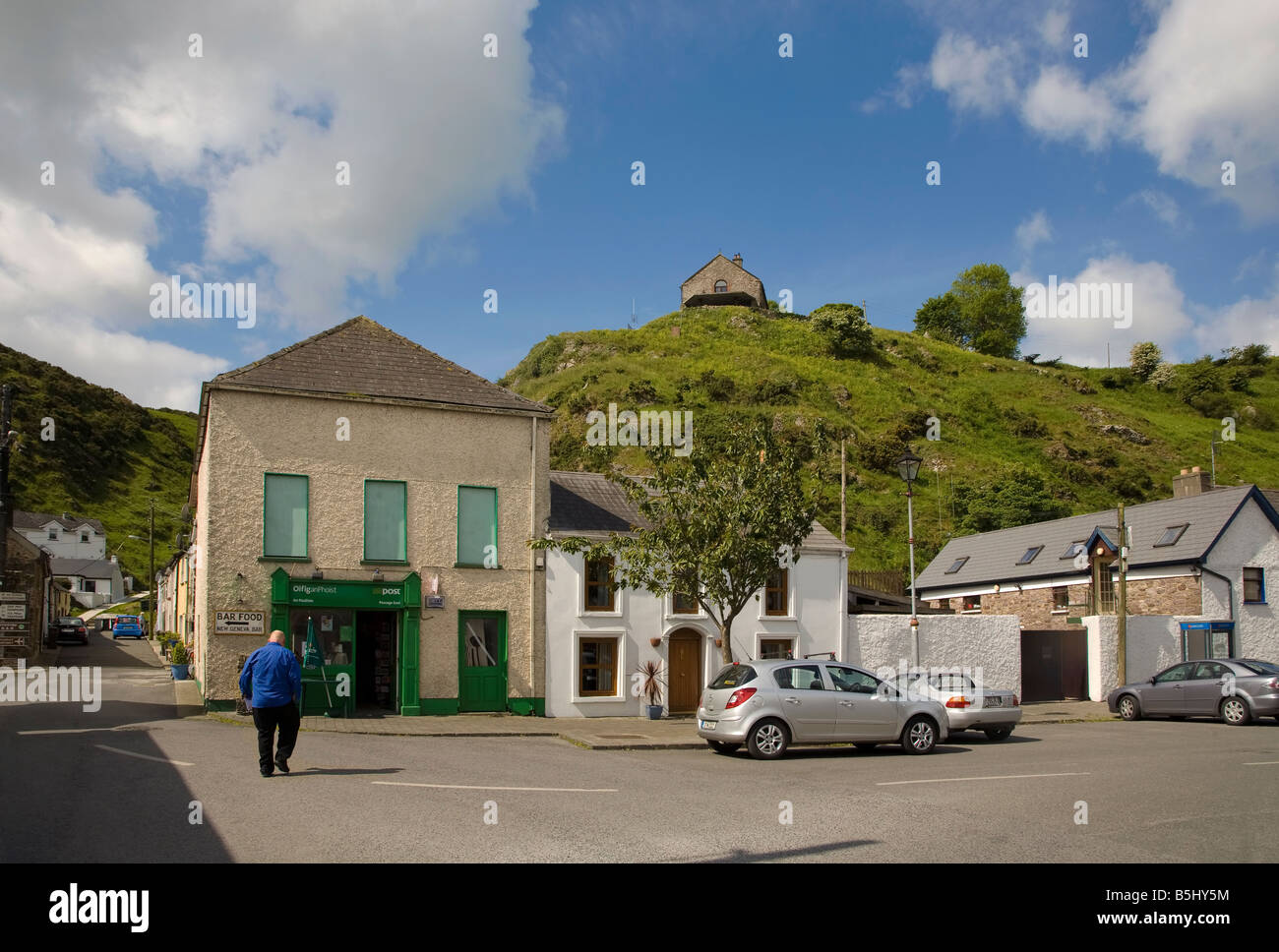 A Traditional Village Post Office in Passage East, County Waterford, Ireland Stock Photo