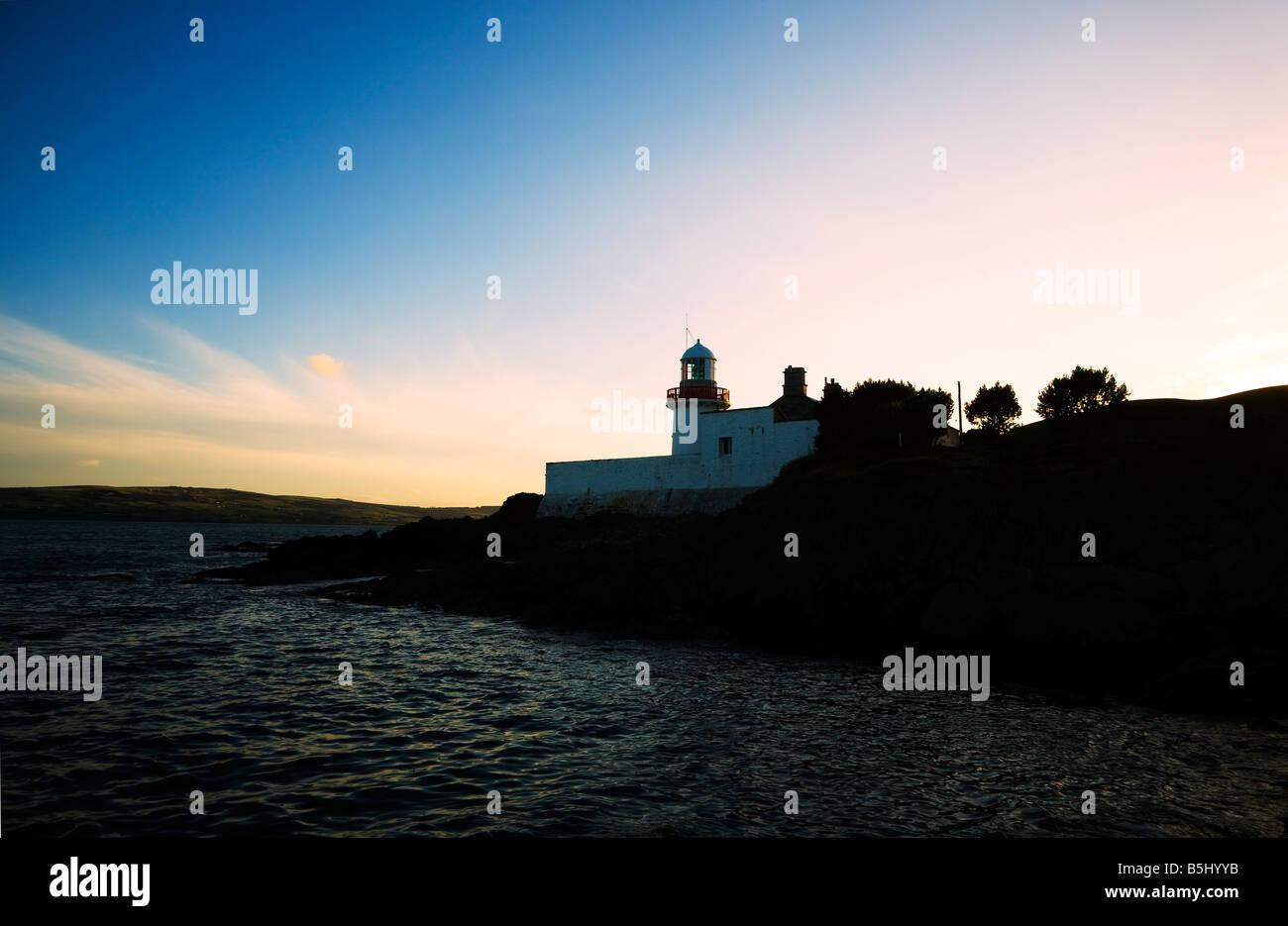 Ballynacourty Lighthouse, Near Dungarvan, County Waterford, Ireland Stock Photo