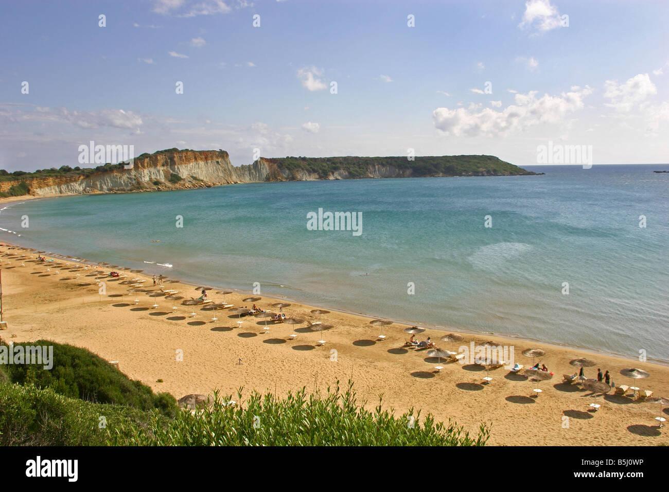 visilikas beach zante - Stock Image