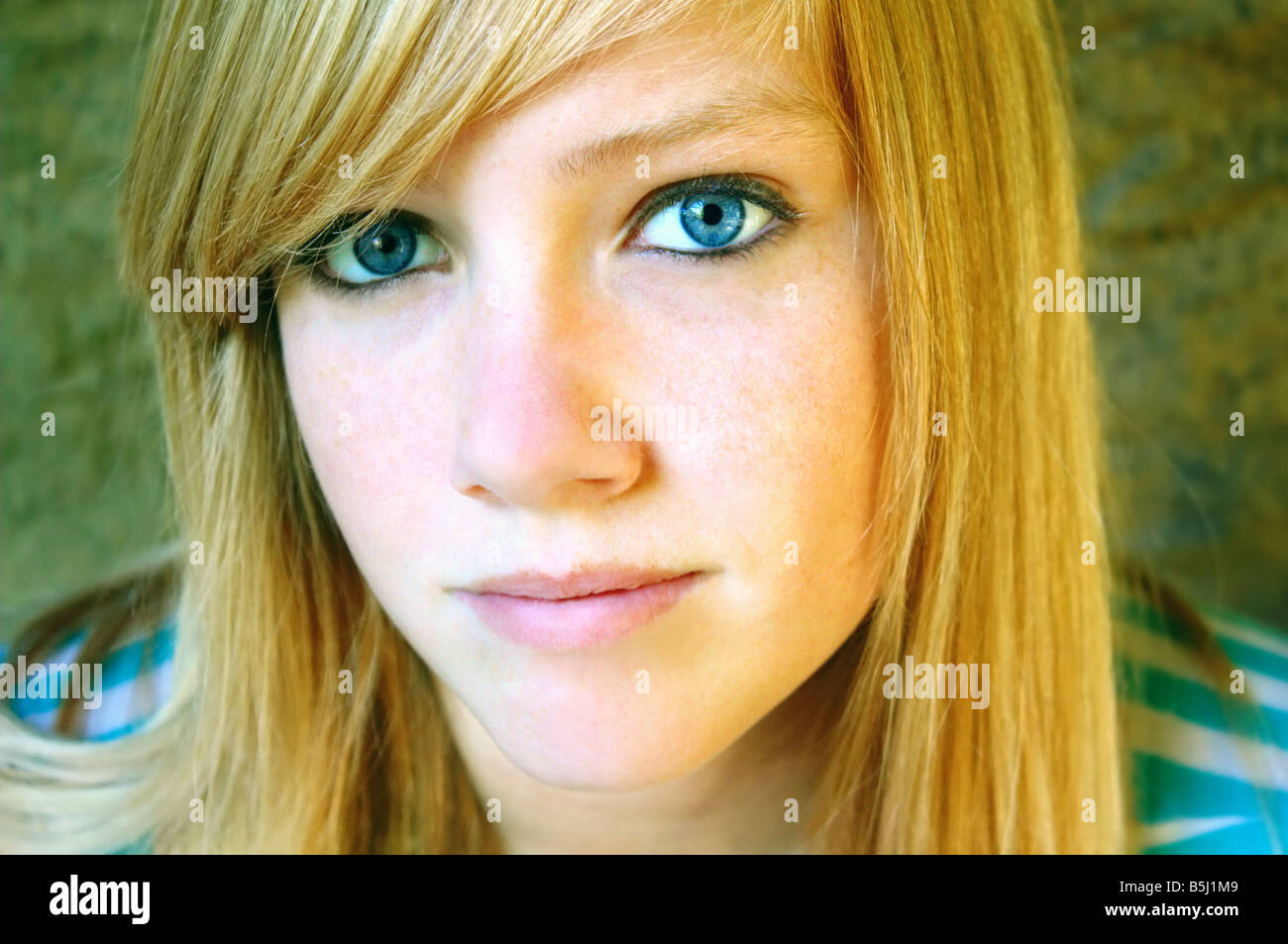USA This is a typical teenage expression from a young lady with mesmerizing eyes - Stock Image