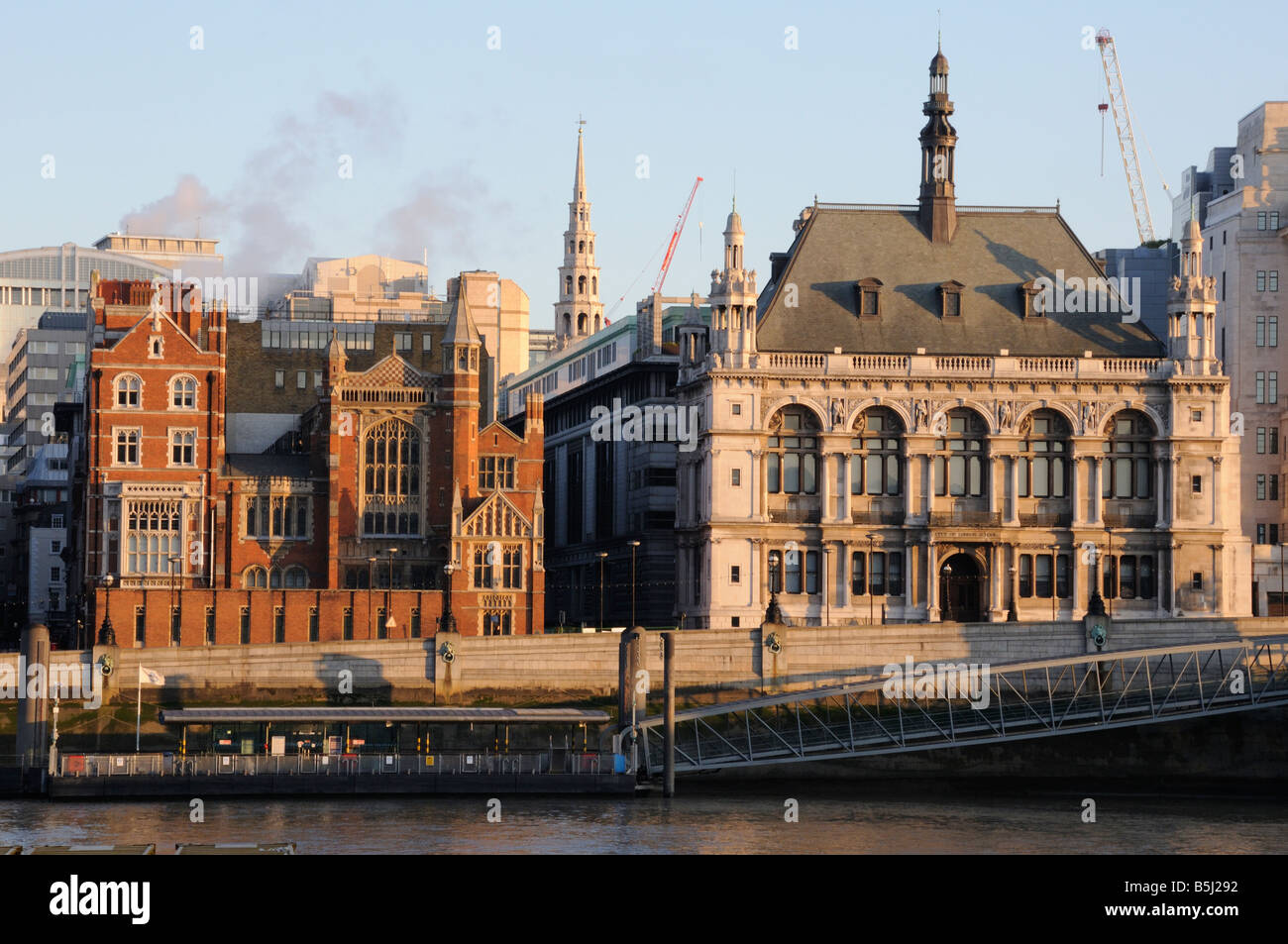 Sion Hall And The City Of London School Victoria Embankment London