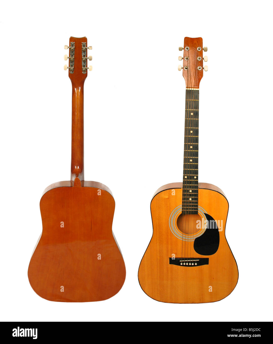 Front and back view of a guitar stock photo 20680728 alamy front and back view of a guitar sciox Gallery