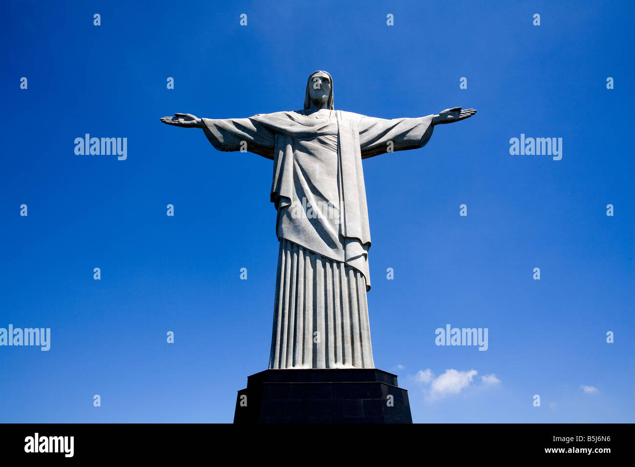 Statue of Christ at Rio de Janeiro Brazil - Stock Image