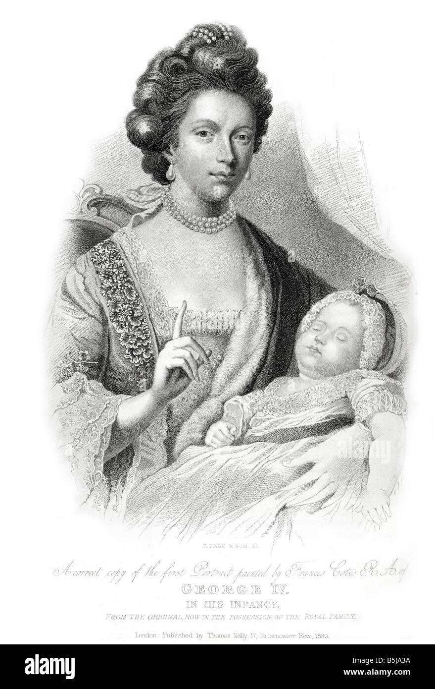 Charlotte of Mecklenburg-Strelitz george iv baby Stock Photo