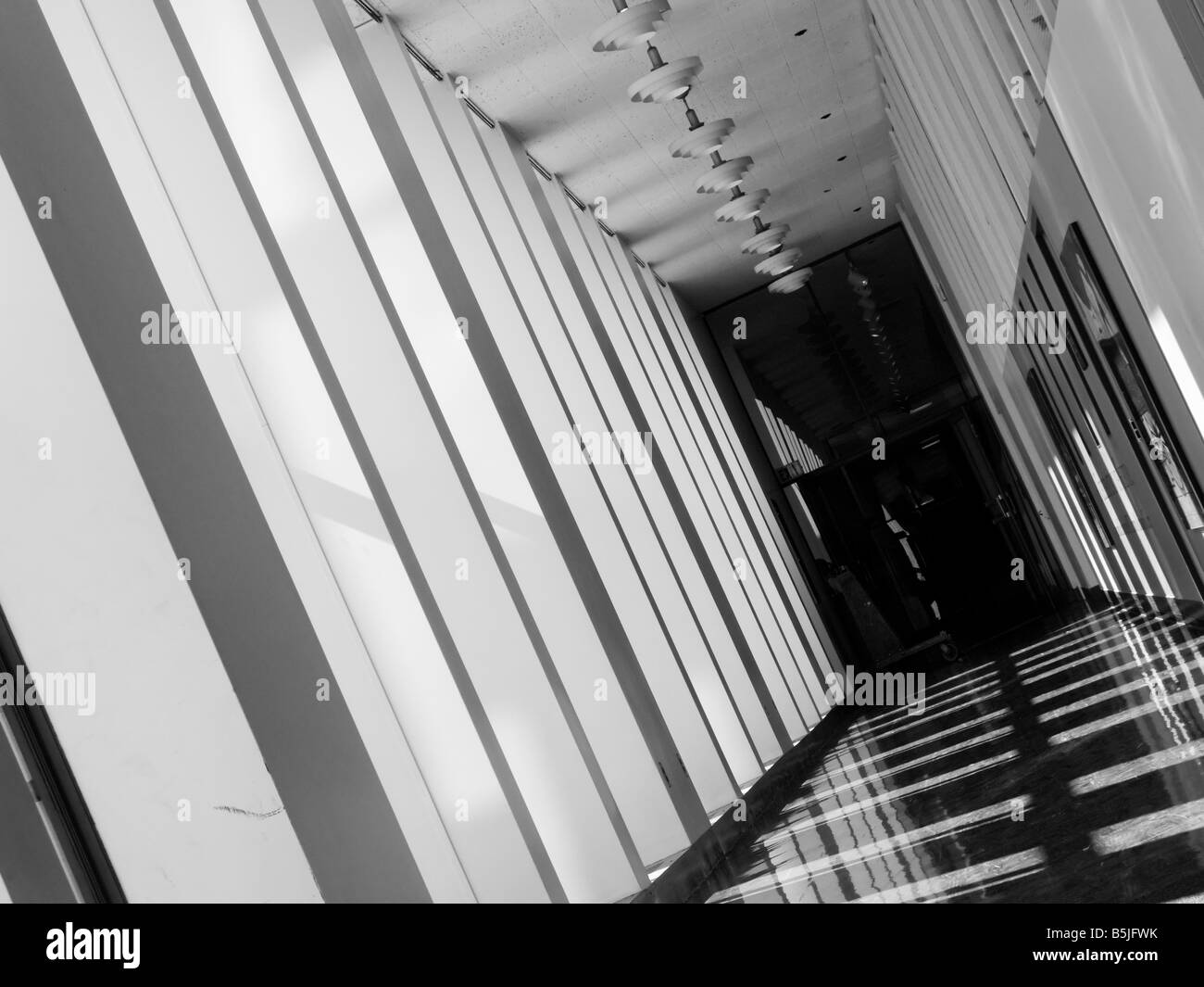 Hallway in Building 14 on the Massachusetts Institute of Technology campus in Cambridge MA as seen on 10 20 2008 - Stock Image