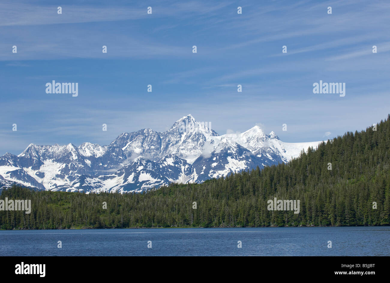 Scenic of Chugach Mountains, Prince William Sound, Alaska - Stock Image