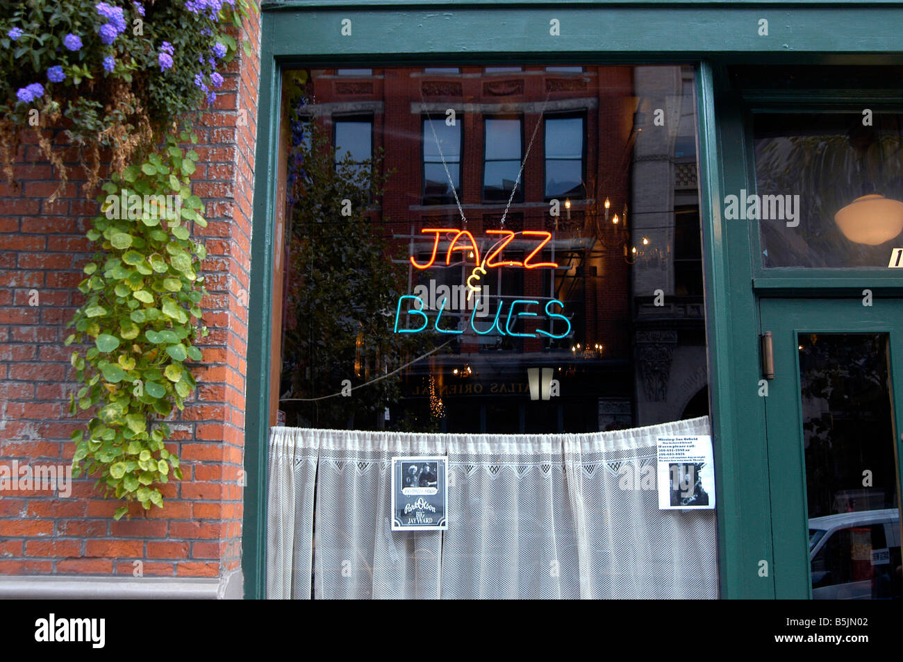 A jazz club in Pioneer Square in Seattle. Washington - Stock Image