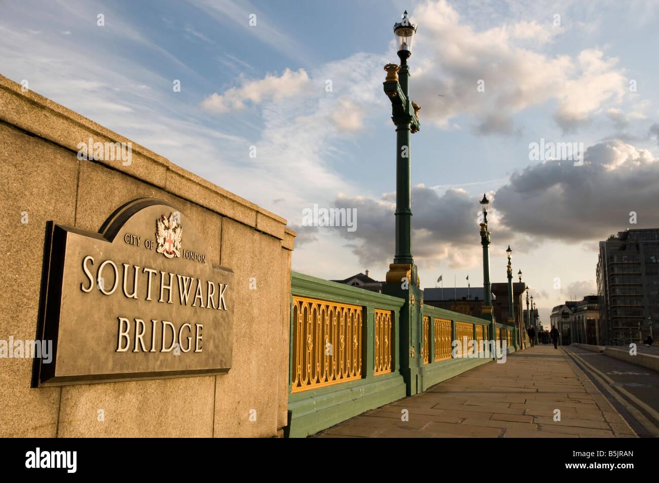 Southwark Bridge London England UK - Stock Image