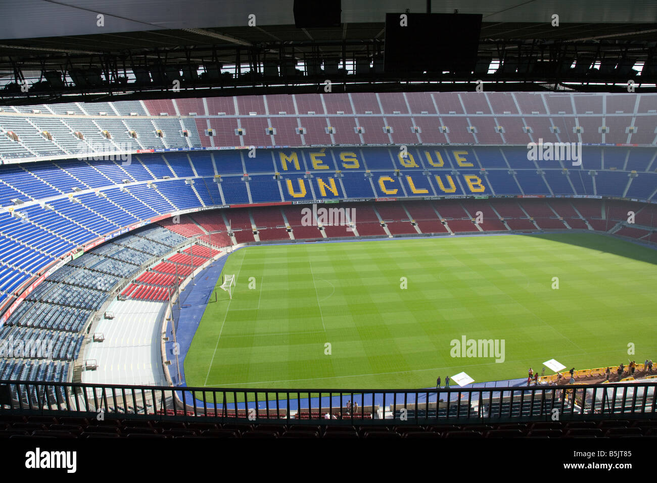 CAMP NOU FC BARCELONA FOOTBALL STADIUM BARCELONAFC FCBARCELONA SPAIN - Stock Image