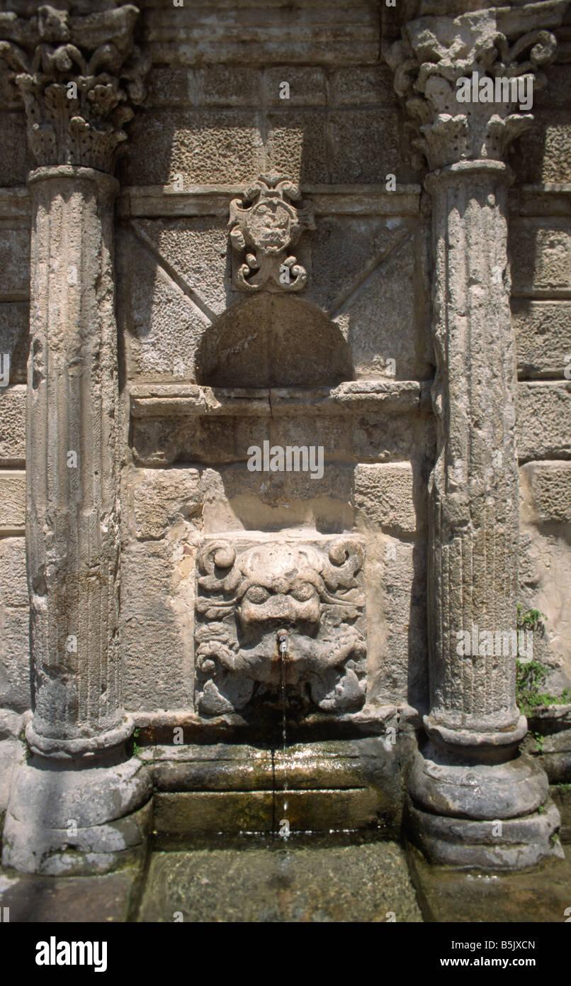 Rimondi fountain in Rethimnon Crete Greece Stock Photo
