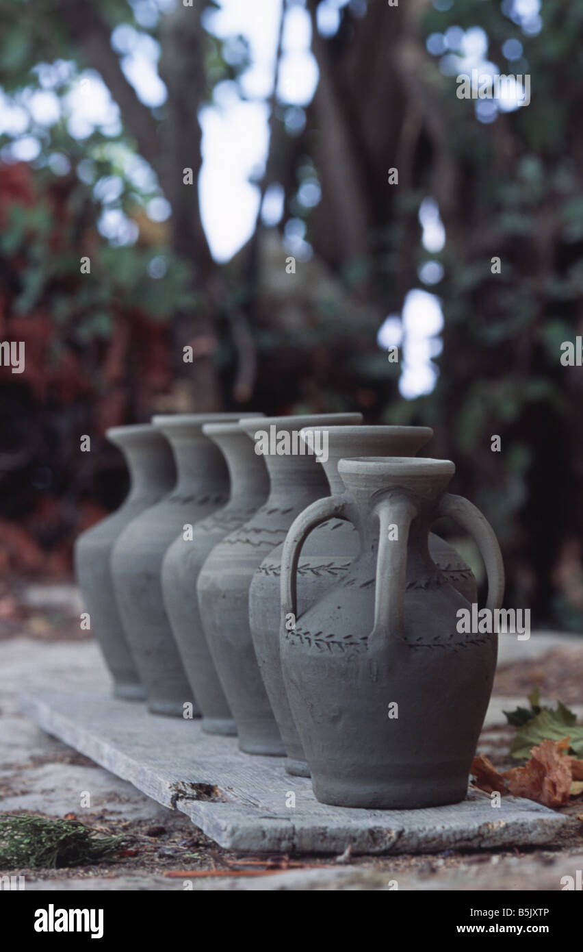 not fired pottery Crete Greece Stock Photo