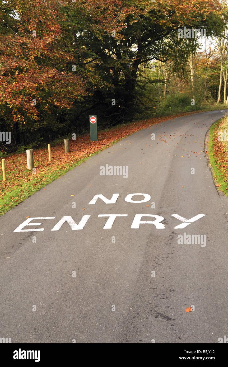 British 'No Entry' road markings - Stock Image