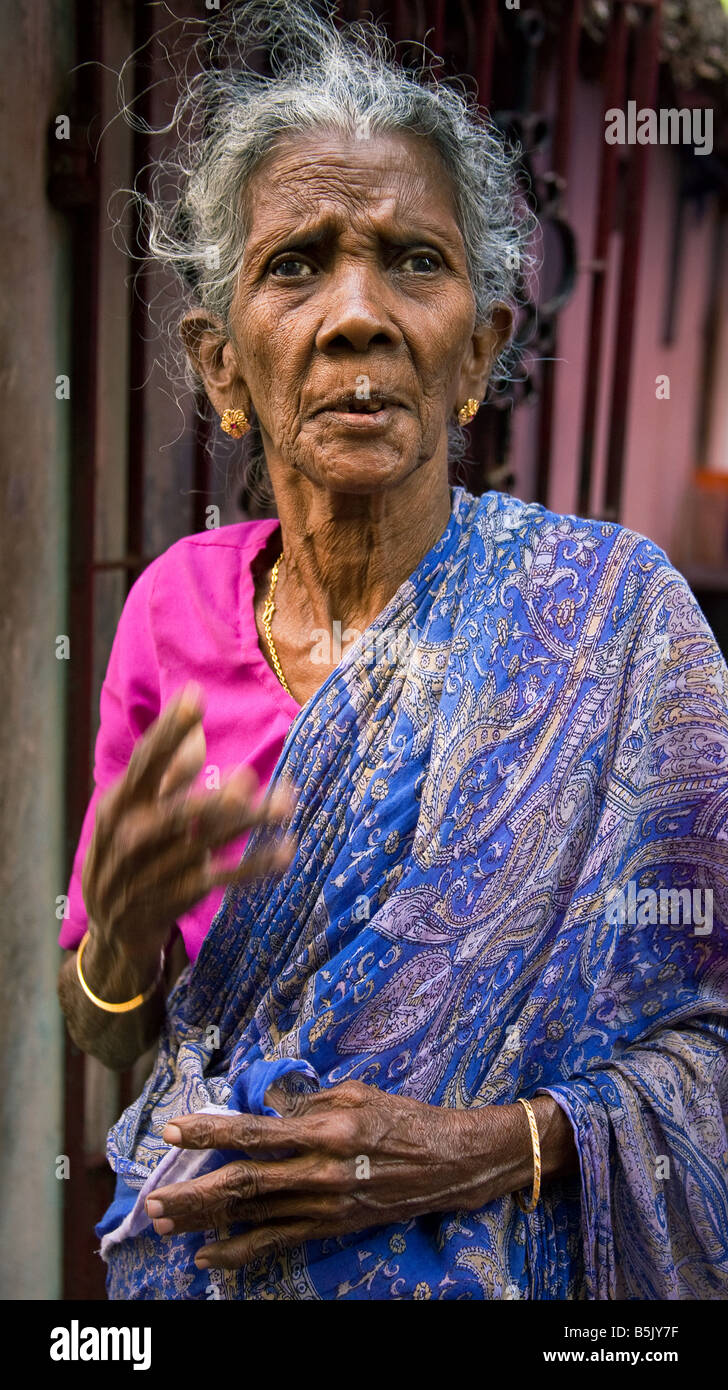 Displaced by Tsunami HelpAgeIndia supports Mrs Ambika in Chennai TamilNadu - Stock Image