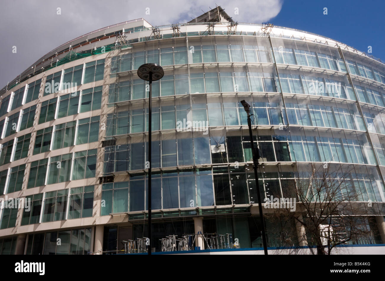 New office building nearing completion, Cheapside  in the City of London GB UK Stock Photo