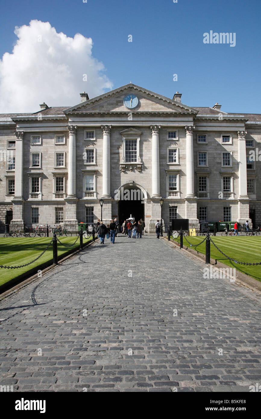 Regent House in Parliament Square in Trinity College Dublin in Dublin 2, Ireland Stock Photo
