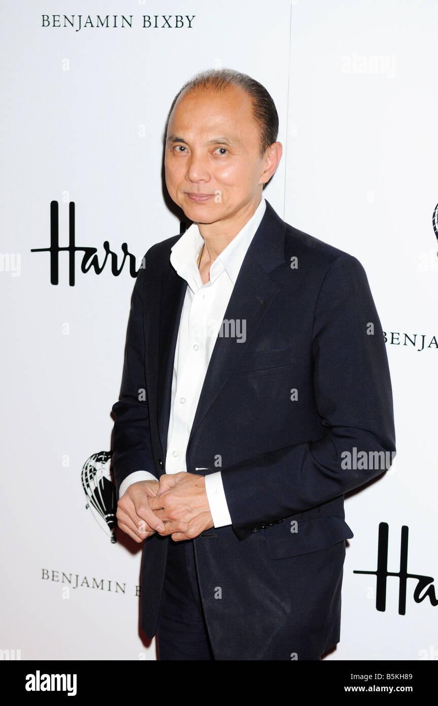 Jimmy Choo at Andre Benjamin (AKA Andre 3000) launch of debut menswear collection, Benjamin Bixby, at Harrods, London. - Stock Image