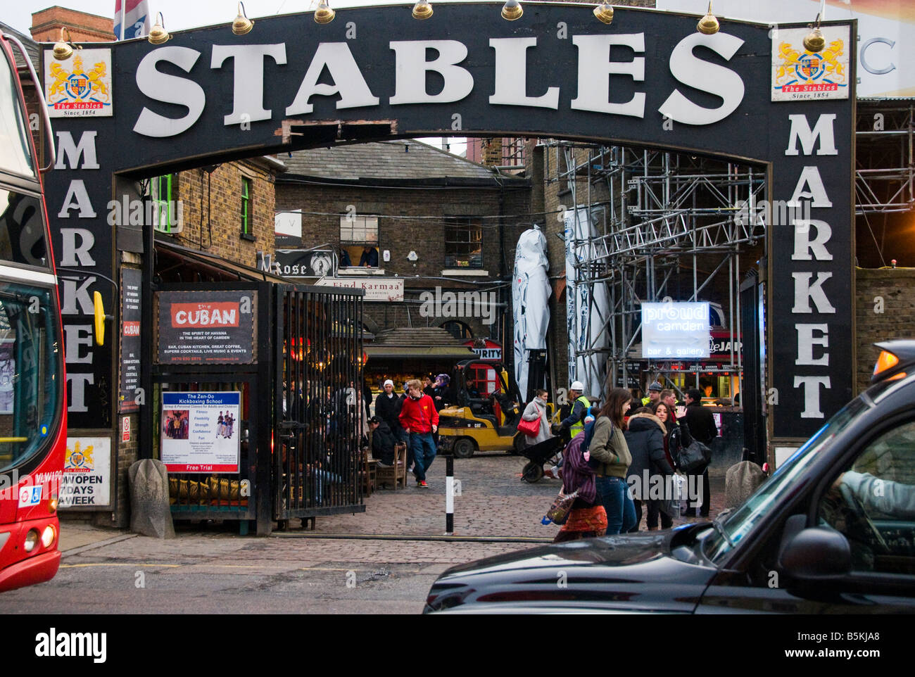 The Stables in Camden Market Chalk Farm Road in London - Stock Image