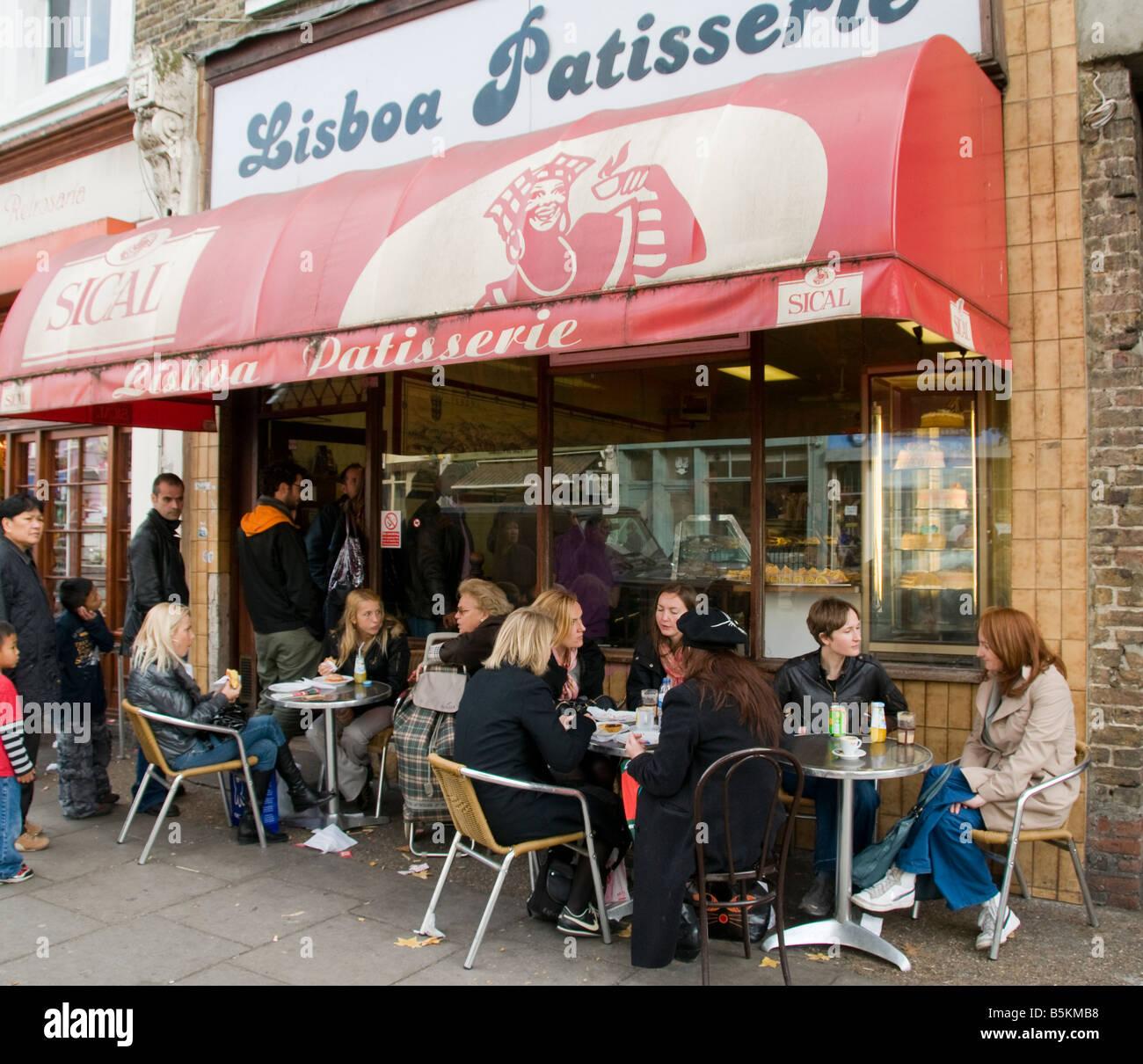 Lisboa Patisserie in Golborne Road London - Stock Image