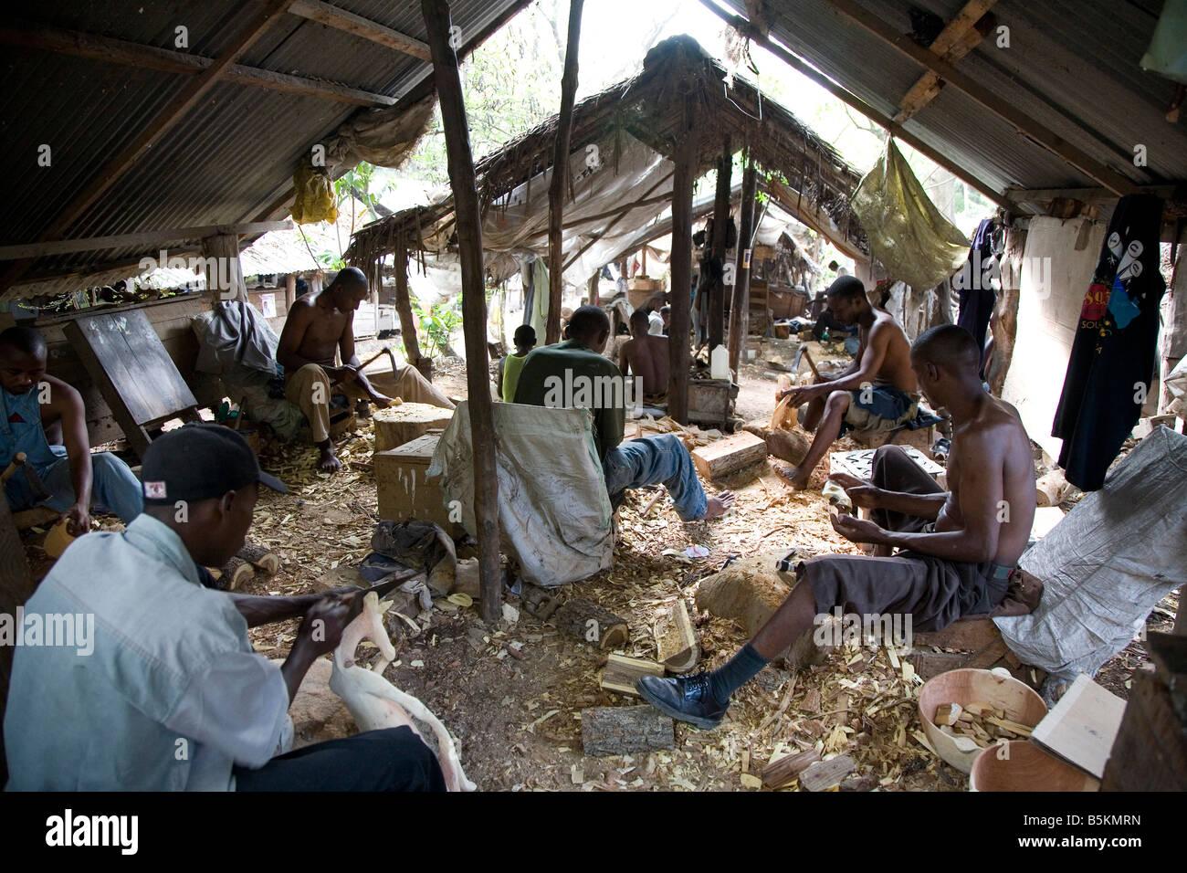 Akamba Handcraft Co-op Society, Mombasa, Kenya - Stock Image