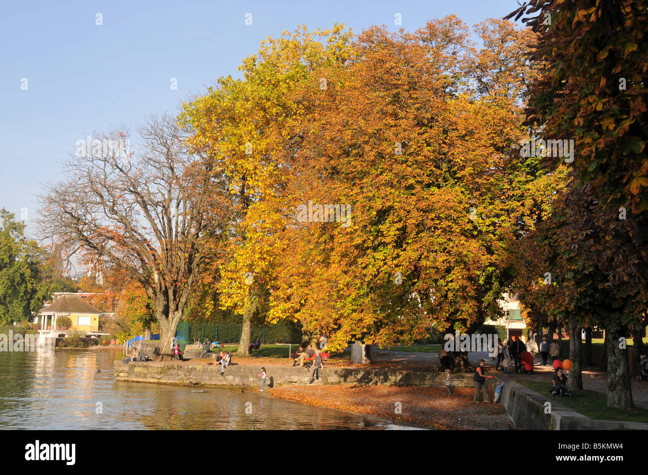 Autum in Rapperswil, Switzerland - Stock Image