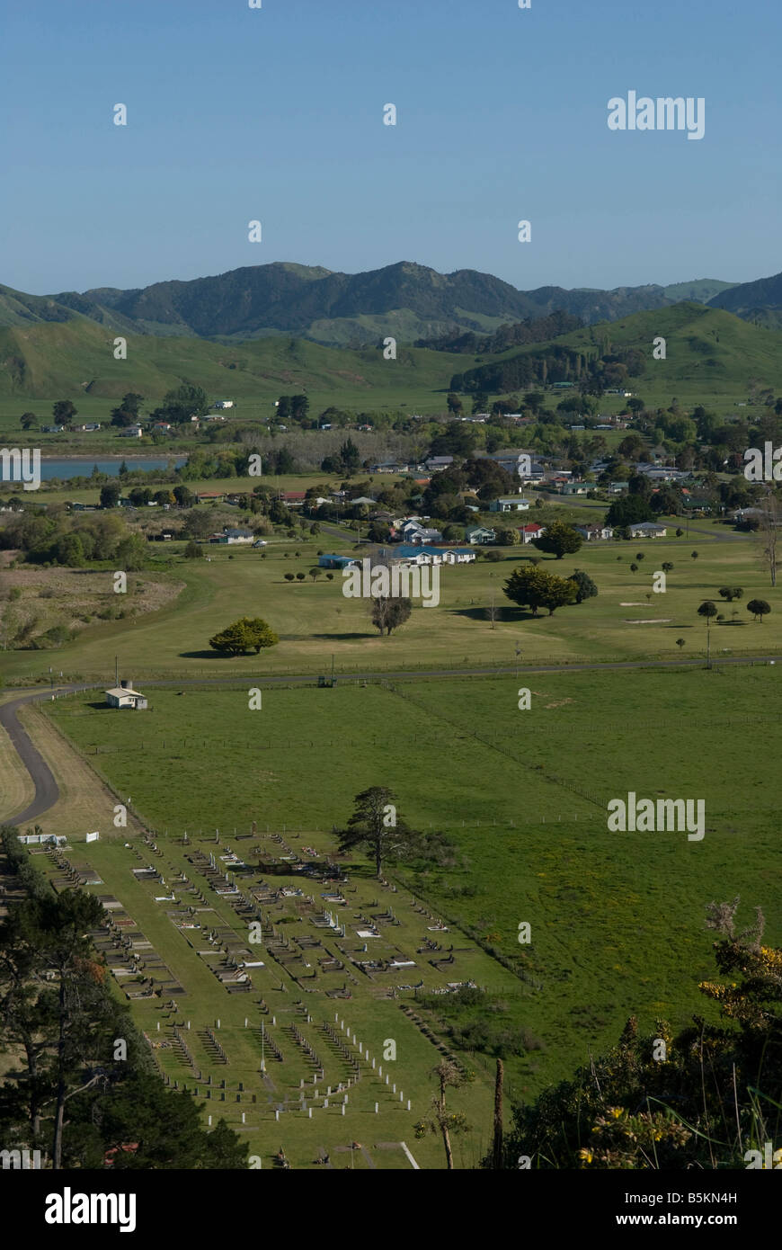Tolaga bay on the North island in New-Zealand. - Stock Image
