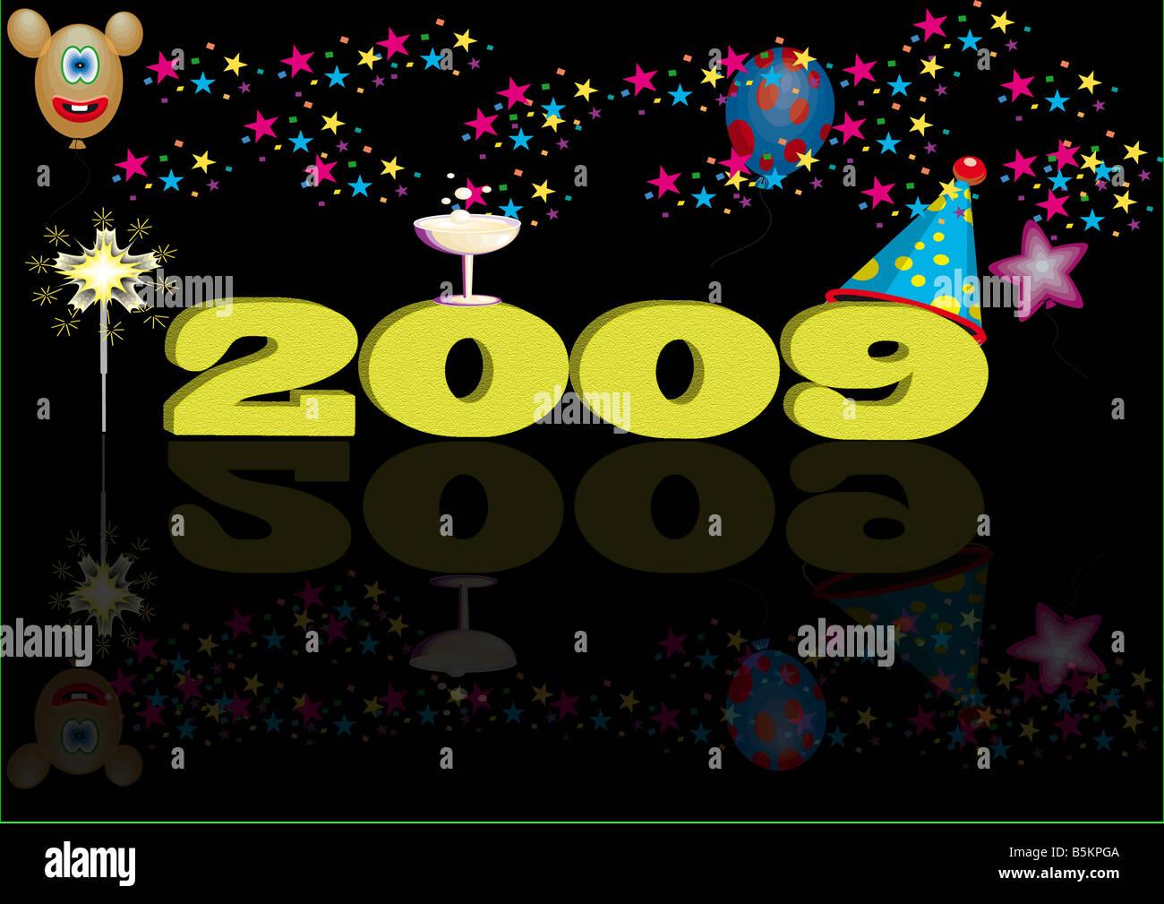 2009 happy - Stock Image