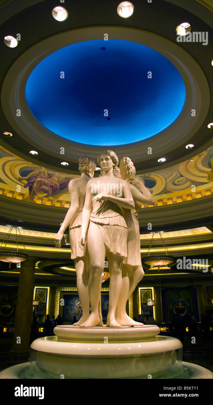 Statue inside of the Caesars Palace Hotel and Casino along Las Vegas Boulevard or the Strip in Las Vegas Nevada Stock Photo