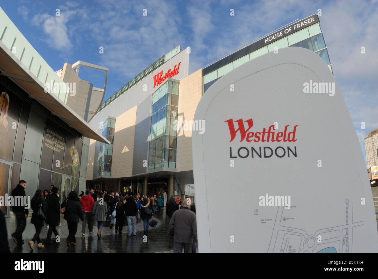 Westfield Shopping Centre, Shepherd's Bush, London - Stock Image