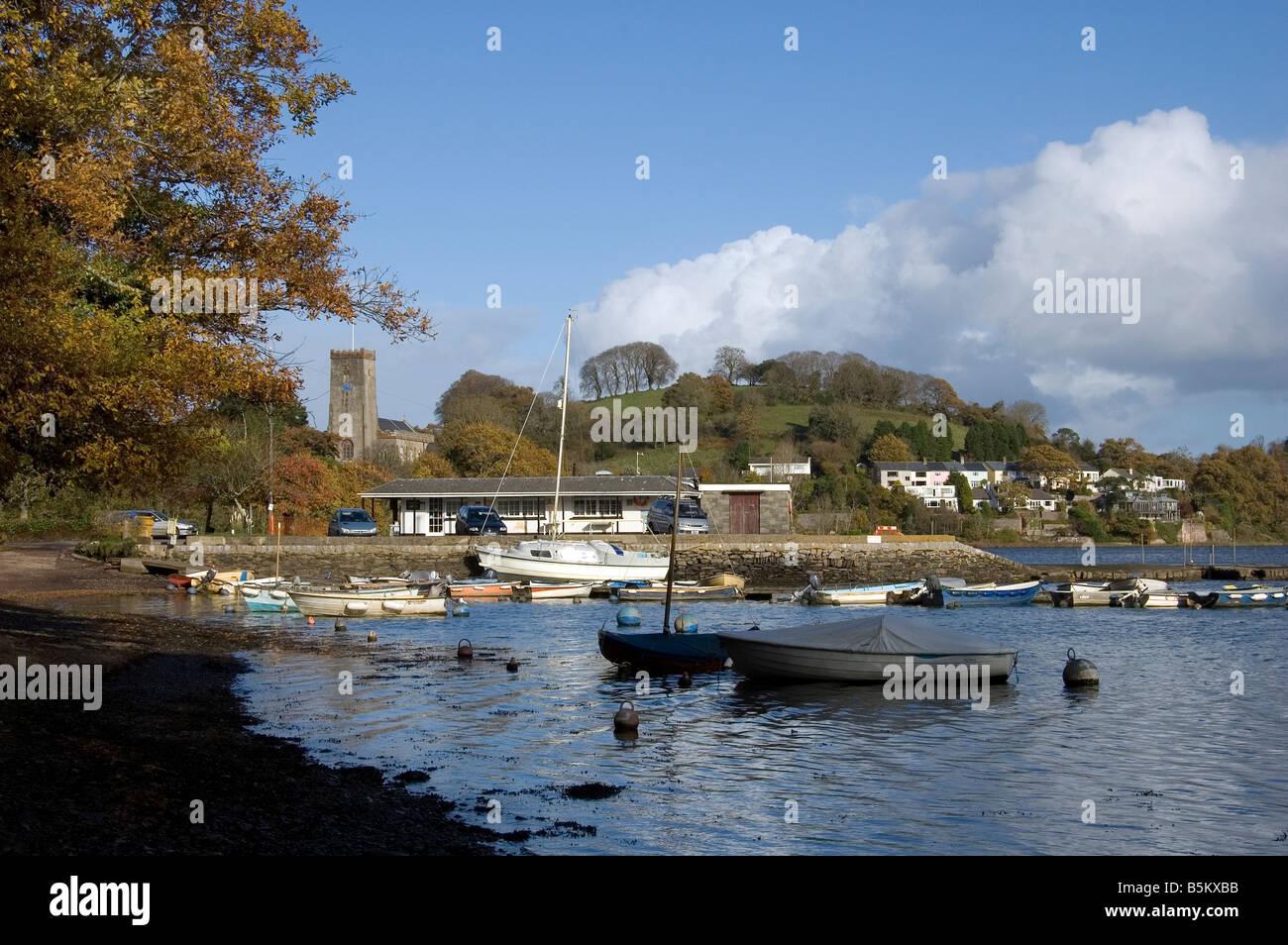 Stoke, Gabriel, England, english, great, britian, European, traditional, old, Stoke, Gabriel, Dart, estuary, river, - Stock Image