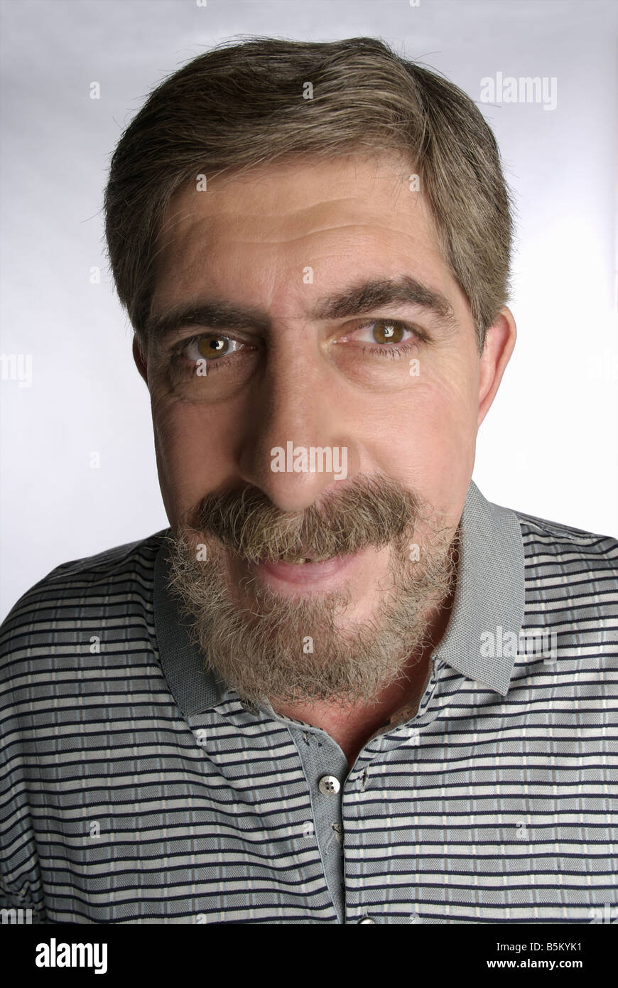 Middle aged man with beard. - Stock Image