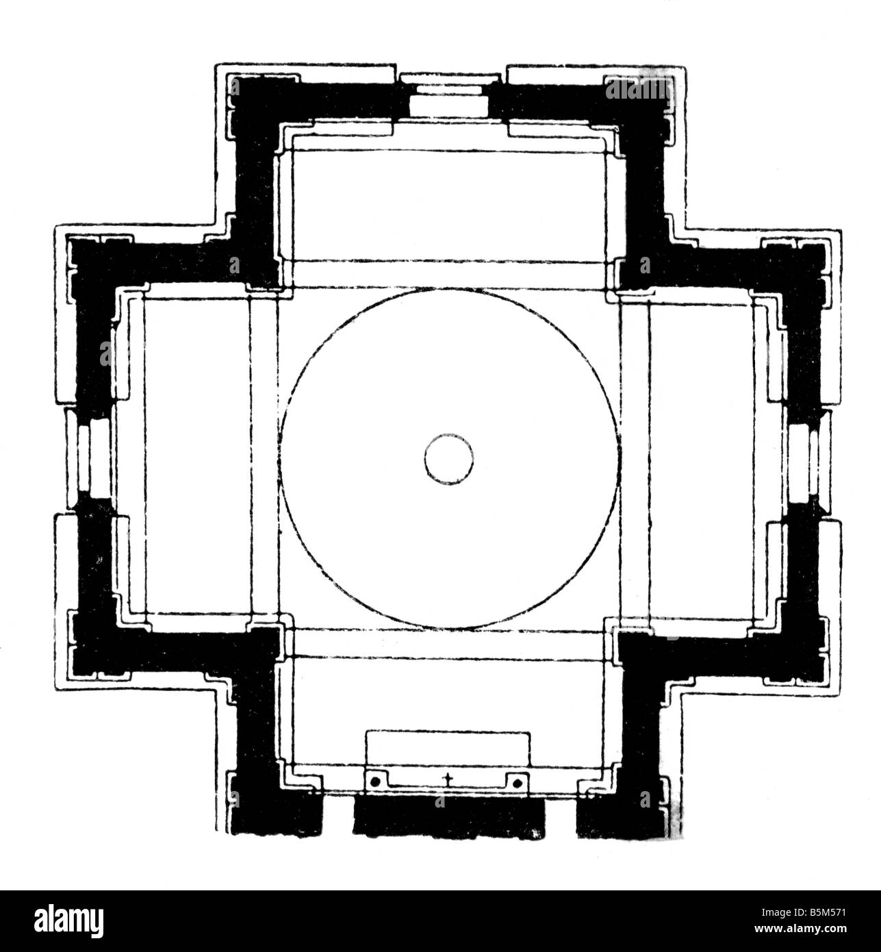 Basilica Floor Plan Architecture Floor Plans Santa Maria Delle Carceri