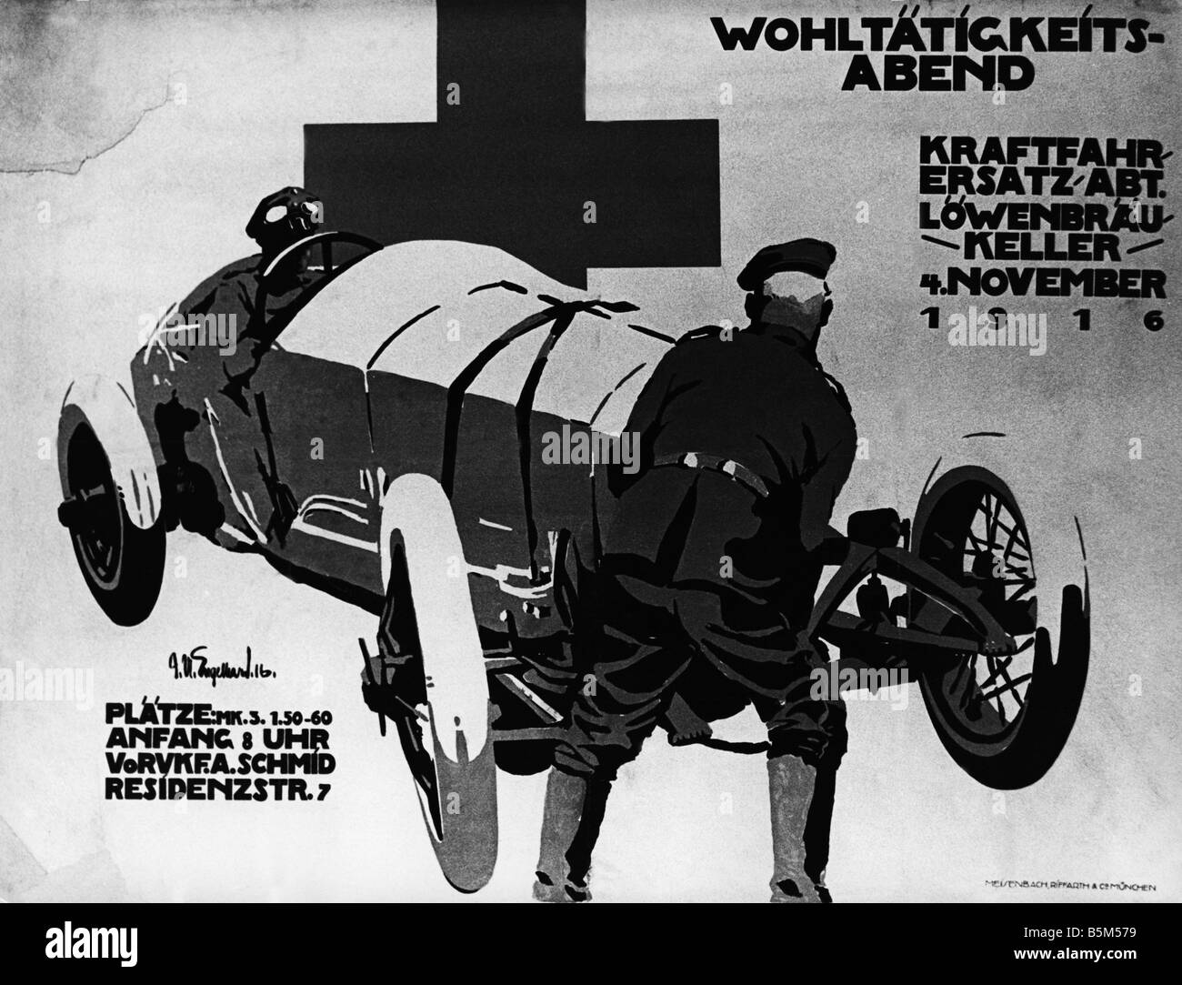 events, First World War / WWI, propaganda, poster, announcement of a ...