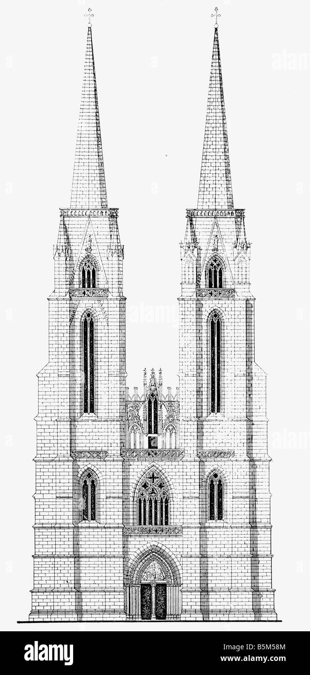 Architecture Churches And Monasteries Germany Marburg Elisabeth Church Built 1235