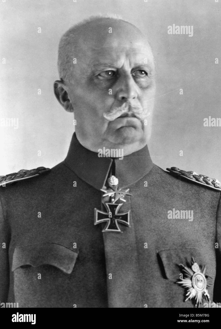 1 L67 B1930 1 Erich Ludendorff Photo c 1930 Ludendorff Erich Prussian General as of 1916 1st Quartermaster General - Stock Image