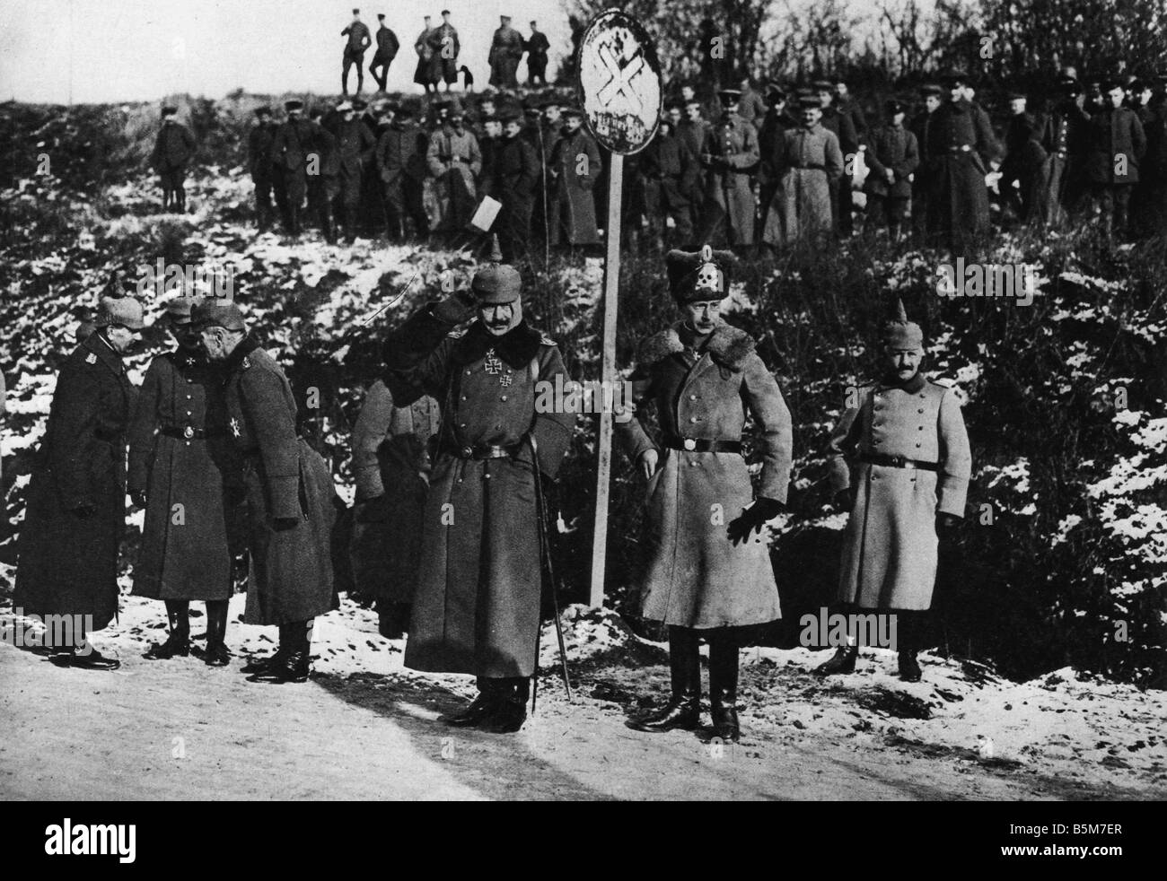 1 W46 F1917 19 E Wilhelm II Crown Prince WWI Wilhelm II German Kaiser 1888 1918 1859 1941 The Kaiser and the Crown - Stock Image