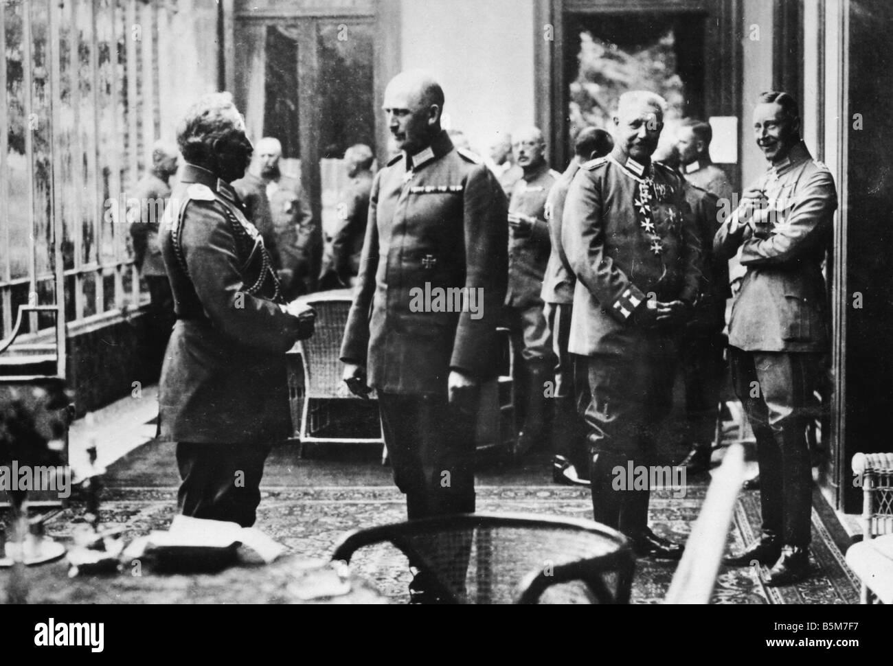 1 W46 F1918 1 Wilhelm II 30 years government 1918 Wilhelm II German Kaiser 1888 1918 1859 1941 Celebrating the Kaiser - Stock Image