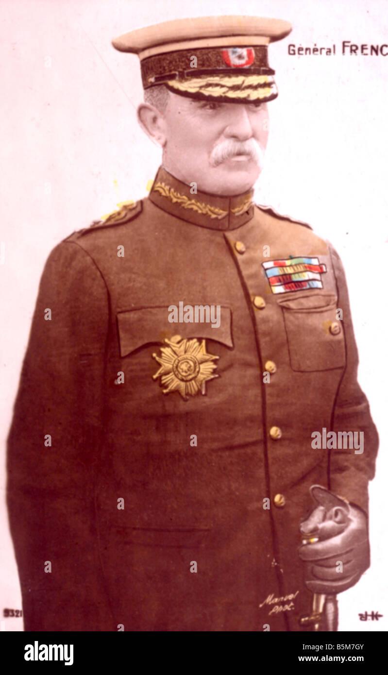 1EN 1333 B1916 E Sir John French Field Marshal Photo French Sir John Denton Pinkstone Brit ish Field Marshal 1913 - Stock Image