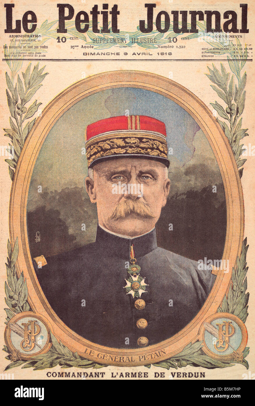 1FK 1101 C1916 E Marshal Petain 1916 Fr Pet Journ Petain Philippe French marshal and politician Cauchy a la Tour - Stock Image