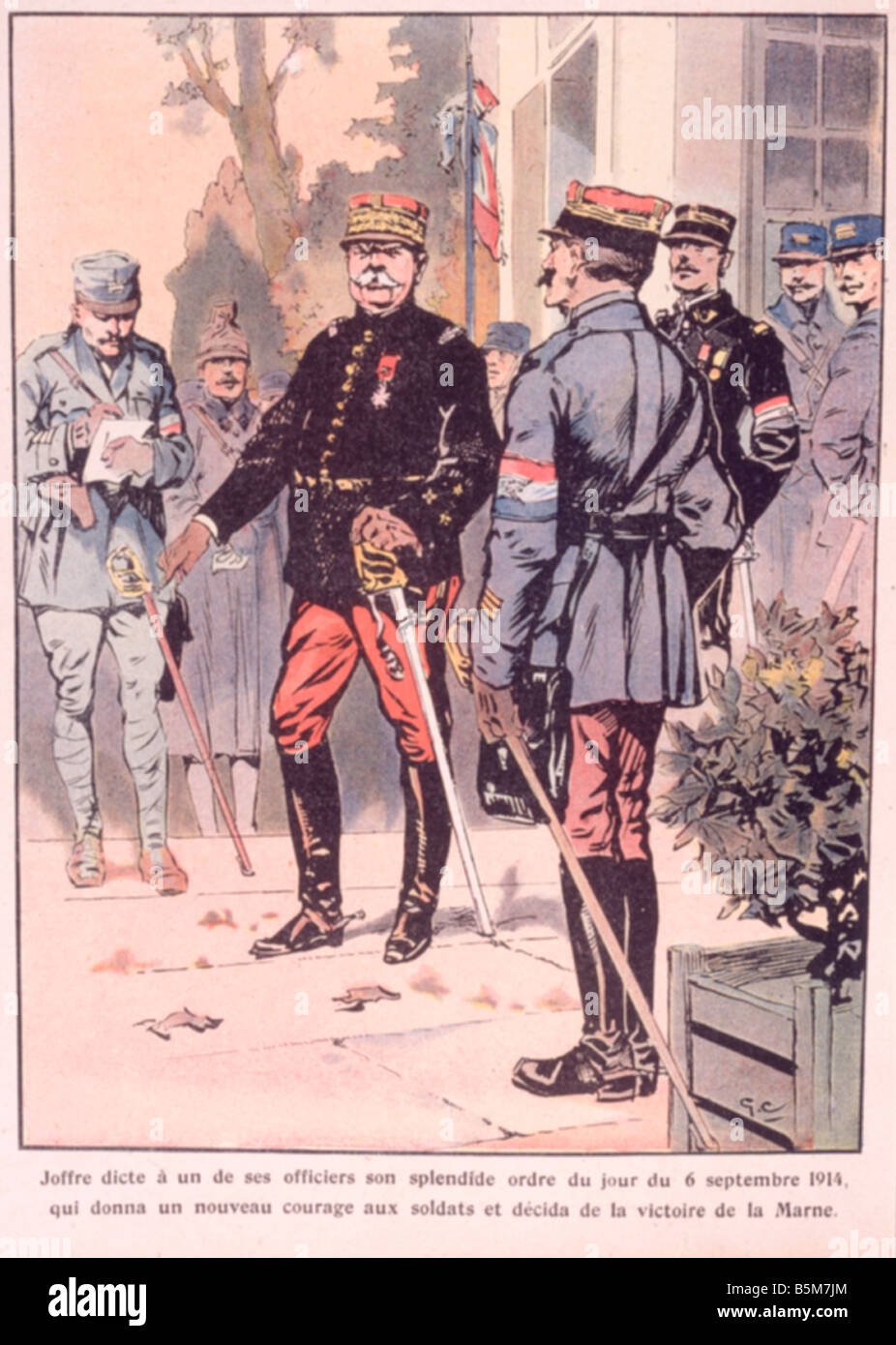 1FK 1817 E1914 1 E Joffre Appointed Marshal Col Print Joffre Joseph French marshal since 1916 commander in chief - Stock Image