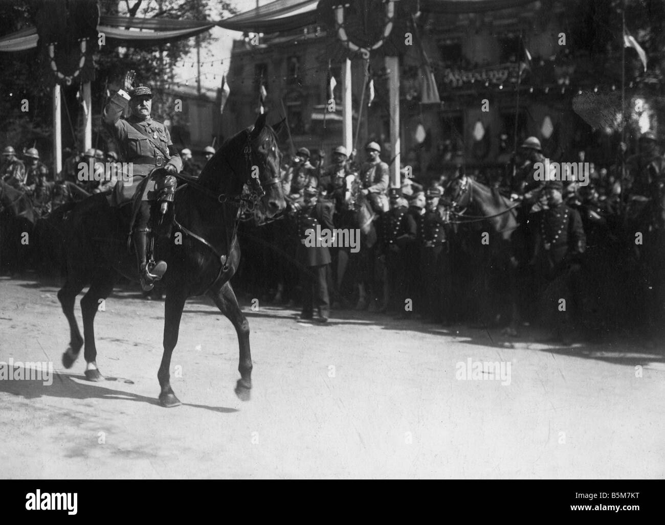 1FK 2522 F1919 E Edouard de Castelnau Photo 1919 Castelnau Edouard Vicomte de Curieres de C French General Supreme - Stock Image