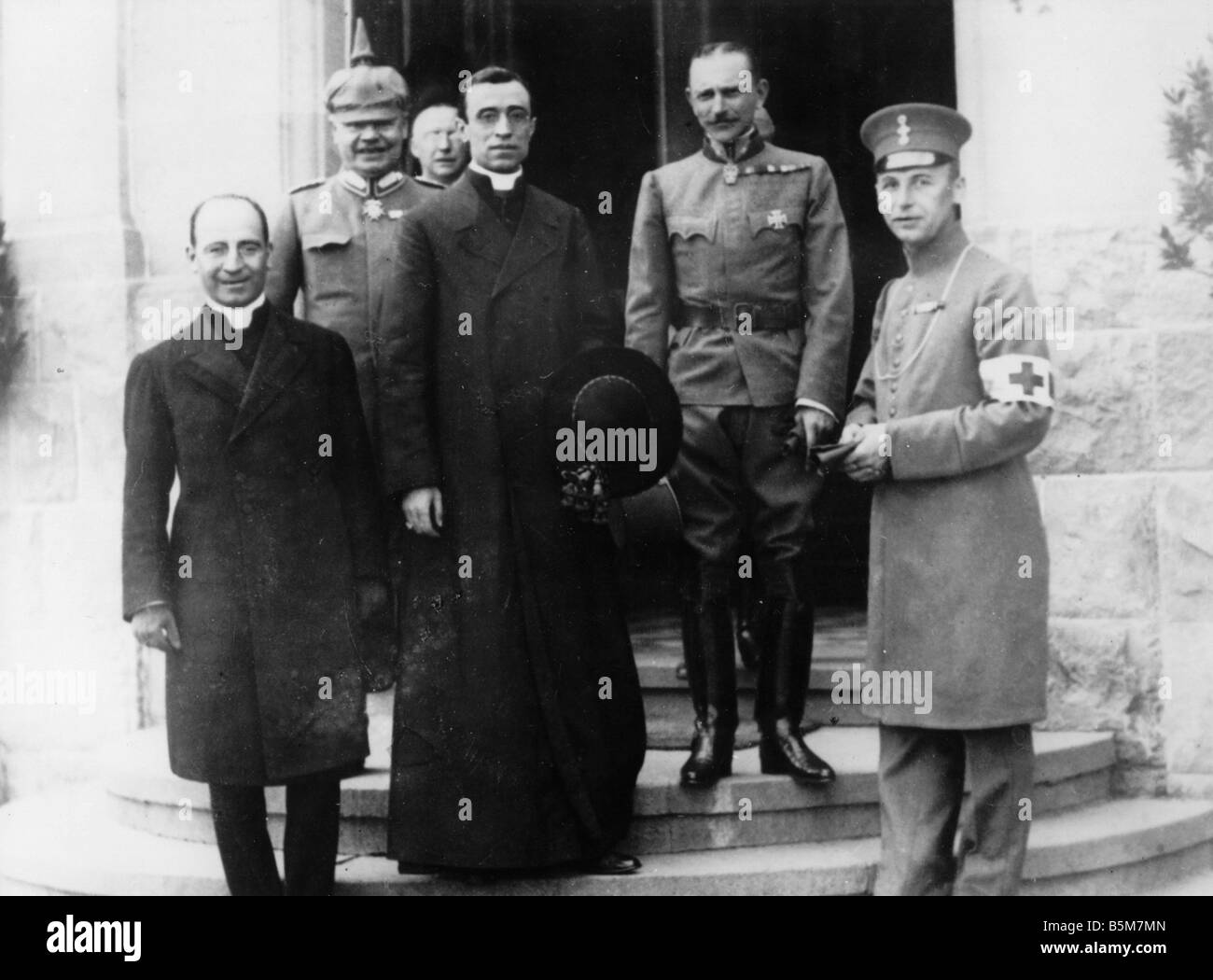 1IT 155 F1917 E Legate Pacelli in Bad Kreuznach 1917 Pius XII Pope 1939 58 before Eugenio Pacelli 1876 1958 Kreuznach - Stock Image