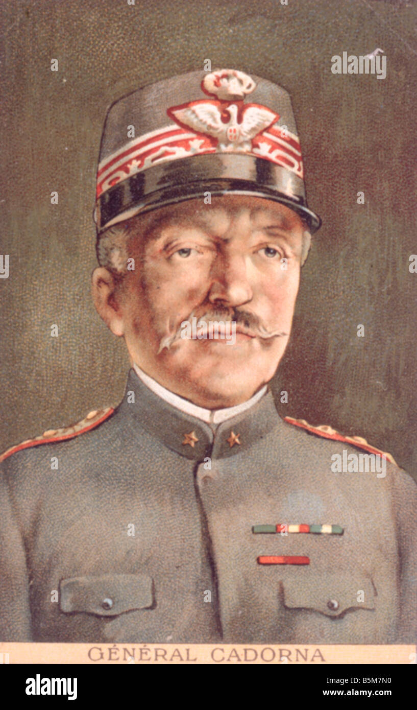 1IT 248 C1916 1 E Luigi Cadorna Colour lithograph Cadorna Luigi Count Marshal of Italy 1914 17 Chief of General - Stock Image