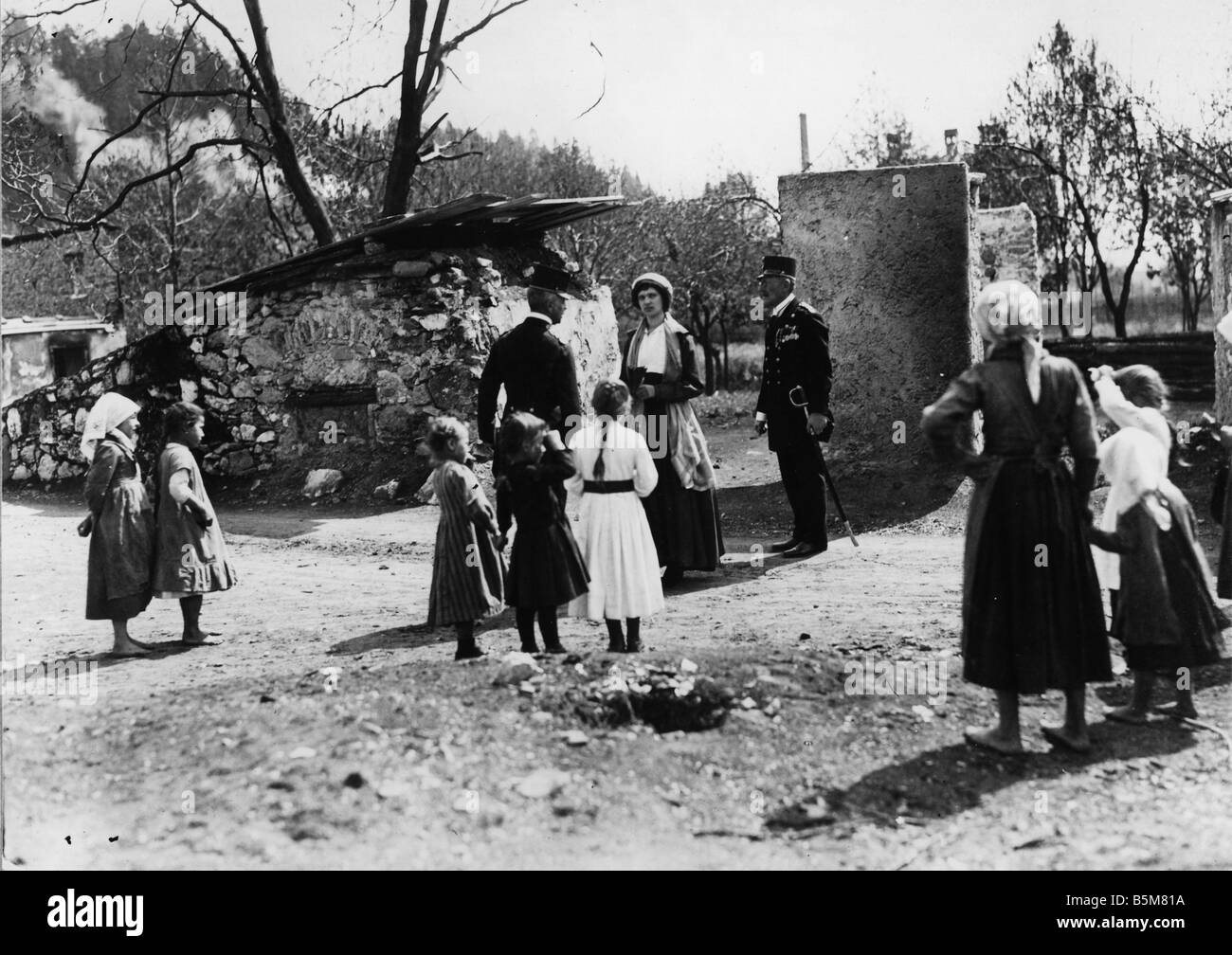 1 Z12 F1917 E Empress Zita in South Tyrol Photo Zita last Empress Charles I of Austria and Queen of Hungary nee - Stock Image