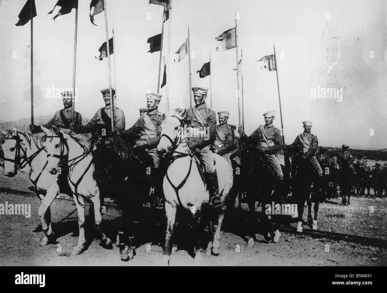 2 G55 A1 1914 5 German Cavalry Photo History World War One German cavalry Photo no location or date - Stock Image